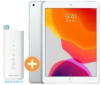 【2/16〜29楽天カード決済でポイント最大19倍相当】UQ WiMAX 正規代理店 2年契約APPLE iPad 10.2インチ 第7世代 Wi-Fi 32GB 2019年秋モデル MW752J/A [シルバー] + WIMAX2+ WiMAX HOME02 アップル タブレット PC セット アイパッド 新品【回線セット販売】B
