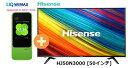 UQ WiMAX正規代理店 3年契約UQ Flat ツープラスまとめてプラン1670ハイセンス HJ50N3000 [50インチ] + WIMAX2+ Speed Wi-Fi NEXT W04 HAISENSE 4K 液晶テレビ 家電 セット ワイマックス 新品【回線セット販売】