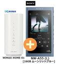 UQ WiMAX ��������Ź 3ǯ����UQ Flat �ġ��ץ饹SONY NW-A55 (L) [16GB ����åȥ֥롼] + WIMAX2+ WiMAX HOME 01 ���ˡ� ���������ޥ� WALKMAN DAP �ϥ��쥾 Bluetooth �ǥ����륪���ǥ����ץ졼�䡼 ���å� ���ʡڲ������å������B