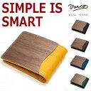 【全国送料無料】VARCO REAL WOOD (ヴァーコ リアルウッド)木と革がクールに融合二つ折財布RW smart wallet アールダブリュー スマ…