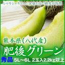 【送料無料】 熊本県(八代産) 『肥後グリーン』 特大玉 5L〜6Lサイズ  2玉入り(約5.0kg)