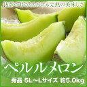 【送料無料】 JA岡山(牛窓産)  『ペルルメロン』  秀品  5L?Lサイズ  2玉?6玉入  (