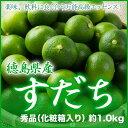 【送料無料】 徳島県産 『すだち』 秀品 大玉 3L〜2Lサイズ (約1.0kg) 化粧箱入り