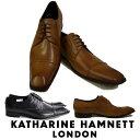 キャサリンハムネット メンズ 靴 ビジネスシューズ 革靴 紳士靴 本革 ブランド メンズ 紳士 ストレートチップ レザーシューズ KATHARINE HAMNETT 3967 ブラック ブラウン
