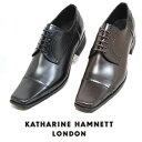 キャサリンハムネット メンズ 靴 ビジネスシューズ 革靴 紳士靴 本革 ブランド ストレートチップ レザーシューズ KATHARINE HAMNETT 3947 ブラック ダークブラウン