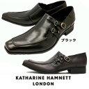 キャサリンハムネット メンズ 靴 ビジネスシューズ 革靴 紳士靴 本革 ブランド Uチップ サイドストラップ スリッポ レザーシューズ KATHARINE HAMNETT 3970 ブラック ダークブラウン
