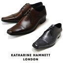 キャサリンハムネット メンズ 靴 ビジネスシューズ 革靴 紳士靴 本革 ブランド ストレートチップ レザーシューズ KATHARINE HAMNETT 3980 ブラック ダークブラウン