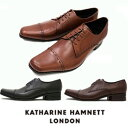 キャサリンハムネット 靴 ビジネスシューズ 本革 KATHARINE HAMNETT 31601 ブラック ダークブラウン ブラウン メンズ 紳士 ストレートチップ レザーシューズ ビジカジ