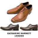 キャサリンハムネット メンズ 靴 ビジネスシューズ 革靴 紳士靴 本革 ブランド Uチップ レザーシューズ KATHARINE HAMNETT 31603 ブラック ダークブラウン ブラウン
