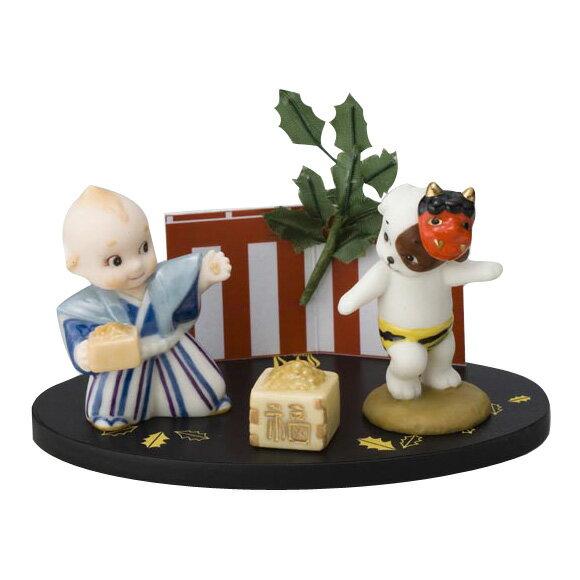 ローズオニールキューピー人形 キューピー歳時記フィギュアセット2月「節分」豆まき Rose O'Neill Kewpie