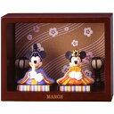 【ディズニー・ミッキーマウス】マンスリーフィギュア3月「ひな祭り」平飾り/親王飾り/ひな人形/雛人形/桃の節句【Disneyzone】ミッキーマウス&ミニーマウス♪