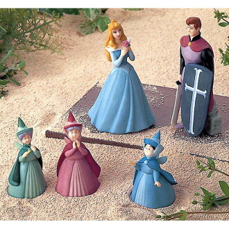 [Disney Princess] miniature figurines set - Sleeping Beauty / La Belle au bois dormant