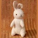 楽天キューピー人形のハピコレオーガニックコットン ラビット/うさぎ 立ち/チェック柄