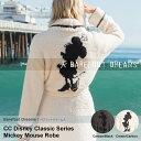 Barefooot Dreams ベアフットドリームス コージーチック クラシック ディズニー ミッキー ミニー アダルト ローブ CC Mickey & Minnie Mouse Robe Cream/Carbon D100