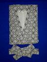 ショッピング白 【送料無料】【綿100%】紳士 ガーゼねまきS・M・L・LL 白地に紺の幾何学模様です。