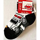 トミカパトカー丈長スニーカーソックス男児ソックスキャラクター靴下 (トミカ、キャラクターソックス、男児靴下、子供靴下、パトカー)