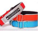 犬 首輪 小型犬 中型犬  名入れ 刺繍痛くない 苦しくない首輪 ワンタッチバックル Basic 20mm幅 犬の体重=16kgまで日本製 犬の首輪 犬用首輪 クッション付