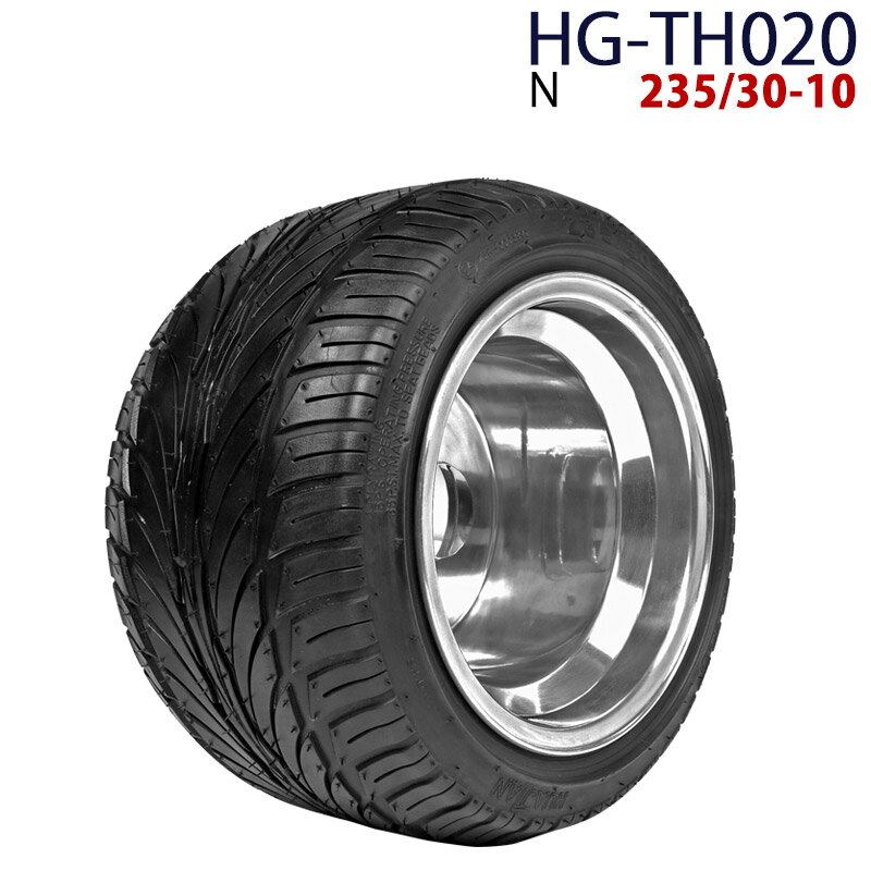 ポイント最大12倍! 四輪バギー ATV ホイール付タイヤ 10インチ 235/30-10 HG-TH020 ハイガー産業 N 0113flash 16 +