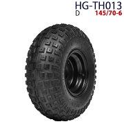 四輪バギー ATV ホイール付タイヤ 6インチ 145/70-6 HG-TH013 ハイガー産業 D 0113flash 16
