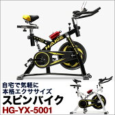 【予約:7月中旬入荷予定】 スピンバイク HG-YX-5001 自宅で気軽に本格トレーニング【 送料無料 ルームランナー スピニングバイク スピナーバイク 効果 価格 サイクルトレーニング ダイエット器具 フィットネスバイク おすすめ 10P18Jun16 23 】
