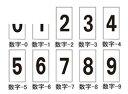 日本緑十字社:数字ステッカー 型式:数字-3(中) (224303)(1セット:10枚入)