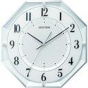 ショッピング掛け時計 RHYTHM リズム 電波 壁掛け時計 連続秒針 白 317x317x50.3 ( 8MY552SR03 ) リズム(株)