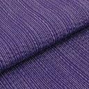 【送料無料】国内手縫い 阿波しじら織木綿きもの 単衣仕立て《仕立代込み》 紫に極細白縞柄 No.101 【受注生産】