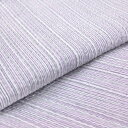 【送料無料】国内手縫い 阿波しじら織木綿きもの 単衣仕立て《仕立代込み》 淡い若紫に白藤細縞 No.H17 【受注生産】
