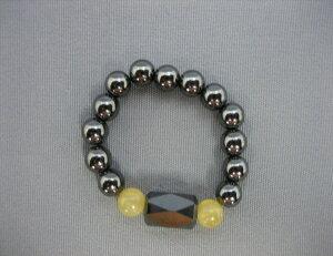 イエローオニキス 磁気リング 指ツボリング 健康リング 宝石の里 山梨県製造品 【送料無料】