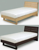 セミダブル・ダブル・シングル ベッド フレーム[センベラ クルーセ] タモ材 シンプル [送料無料]