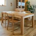 4種の材から選ぶ 長方形テーブル「エテルノ」 木製 ナラ/オーク材/メープル/ウォールナット/チェリー/北欧/ダイニングテーブル(食卓テーブル,食卓机,食卓)国産(日本製)無垢材の旭川家具/幅90~210cmでオーダー可能