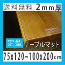 両面非転写テーブルマット 2mm厚 定型タイプ 厚さ2mm,非密着性 テーブルクロス 透明(クリア)のビニールマット(ビニールクロス/デスクマット/テーブルカバ...