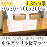 [送料無料][代引できません]アクリル板マット 1.8mm ビニールマット/ビニールクロスより堅い素材でテーブル保護・傷防止に