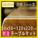 テーブルマット(透明・1mm)別注タイプ ビニールマット・テーブルクロス 透明 [送料無料]