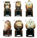 []信楽焼 名入れ 可能なふくろうの焼酎サーバー 7種日本製の陶器(信楽焼き)のサーバー(焼酎入れ)コック付き,文字入れ可。父の日/還暦のお祝い/プレゼントにも。古希お祝い(のし無
