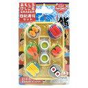 おもしろ消しゴム ファミリーパック 036 回転寿司 ブリスター iwako(イワコー) 【RCP】#