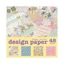 デザインペーパー シャビー 4デザイン×各12枚 48枚入り 折紙 amifa(アミファ) ※