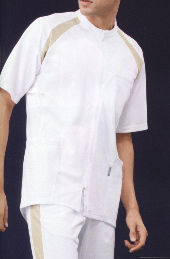 メンズジャケット【半袖】 白衣 KC型 アシックス asics ブランド白衣