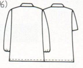 男性用衿付き白衣 半袖の紹介画像2
