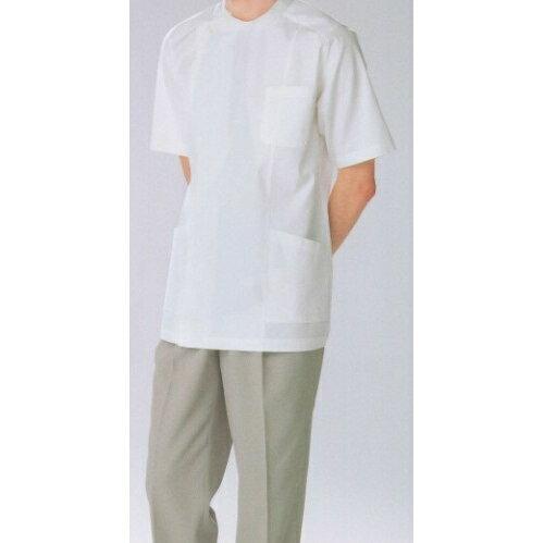 PUT3577 ナガイレーベン Naway Purecot 男性用 白衣 横掛 半袖白衣 ( 白衣 医療用白衣 医師用 ドクター 男性 歯科医師・歯科衛生士 白 ホワイト 通販 楽天 白衣ネット)