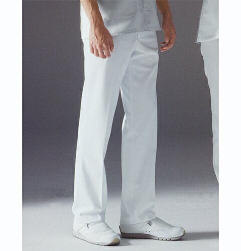 FT4508 ナガイレーベン Naway 男性用 白衣 パンツ (白衣 ナース パンツ 看護師 男性 男性用 白衣 メンズ 医療用白衣 医師用 ドクター 白 ホワイト 脇ゴム 通販 楽天 白衣ネット)