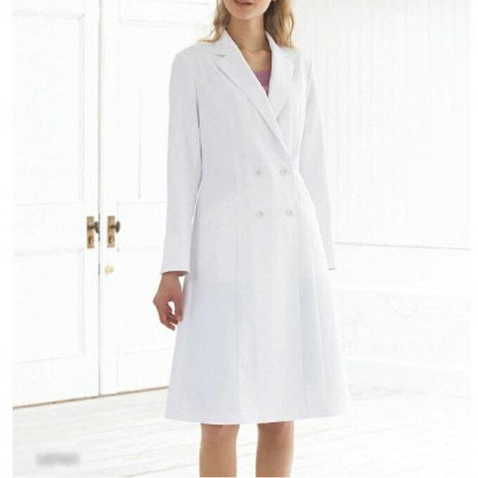 LW101 モンブラン LAURA ASHLEYレディスドクターコート(長袖)(白衣 看護師用 ナース 女性 レディース 女性用 白衣 montblanc 通販 楽天 白衣ネット)