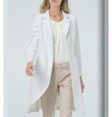 EH3710 女子ドクターコート ナガイレーベン Naway 女性用 白衣 診察衣 シングルボタンタイプ (送料無料 白衣 レディース 女性 白 ホワイト 通販 楽天 白衣ネット)