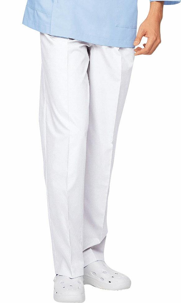 白衣ズボン 自重堂 ホワイセル WH10416 メンズツータックパンツ 制菌加工 男性 看護師白衣(wh10416jic)