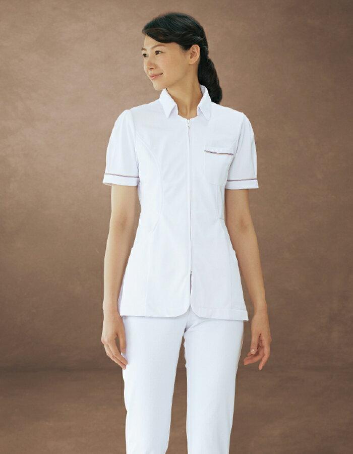 73-1622 住商モンブラン ナースジャケット 女性 半袖 医療白衣 白衣 医療