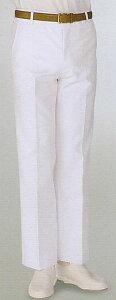 430-40男性用ドクター白ズボン・パンツ医療調理白衣股下フリー(90cm)品番430-49