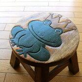 木製スツール かえるスツール カエル置物 かわいい おしゃれ カエルインテリア 子ども こども ベビーチェア ミニスツール 花台 玄関椅子 木製椅子 フラワースタンド 天然木スツール ウッドスツール アジアンスツール シンプル アジアン家具 子供椅子 カエルさん