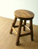 チーク無垢材 木製スツール 天然木スツール イス 椅子 いす ウッドスツール アジアン家具 バリ家具 シンプル モダン 無垢材 キッチンスツール 高さ45cm チーク原木スツールS