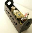 スパイスラック木製アンティーク風アジアンレトロカントリーテイストキッチン雑貨小物収納ケースボックス木の小物入れ