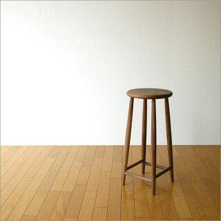 木製スツール無垢天然木北欧ウォールナットテイストシンプルデザインおしゃれ椅子チェアーキッチンスツールカウンタースツールカウンターチェアーバースツールバーチェアーハイチェアーナチュラル完成品送料無料ナチュラルウッドのハイスツールウォールナット